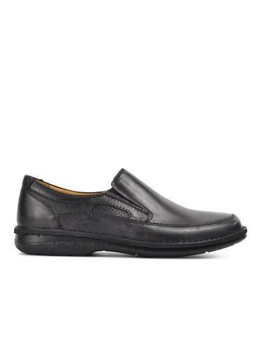 Dr.Flexer 816612 Siyah Erkek Günlük Hakiki Deri Ayakkabı Siyah